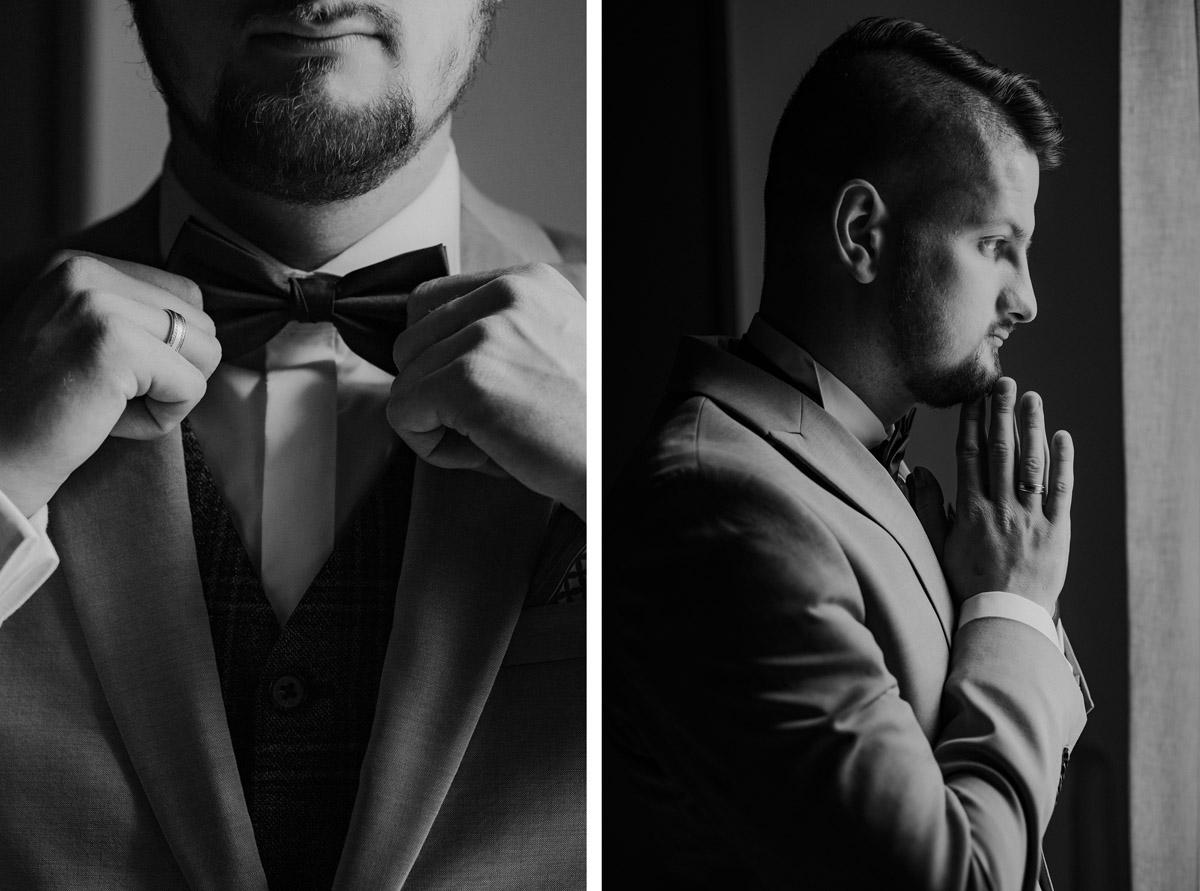 Ślub , Dolina Złotopolska, Fotograf Olsztyn, Muszka ślubna , Detale ślubne, , biżuteria ślubna, Garnitur ślubny Giacomo Conti